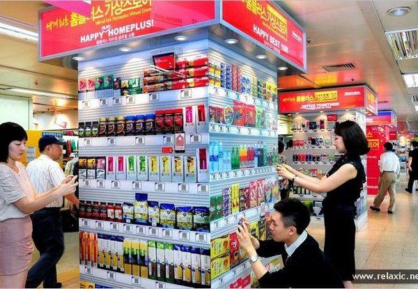 Виртуальные магазины в Южной Кореи