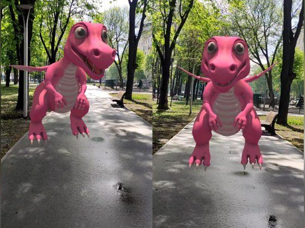 WOWclub показывает динозавров в окружающем мире