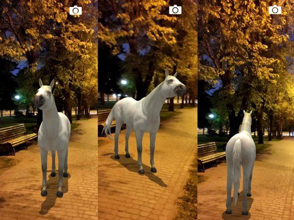 Лошадь в мире дополненной реальности AR