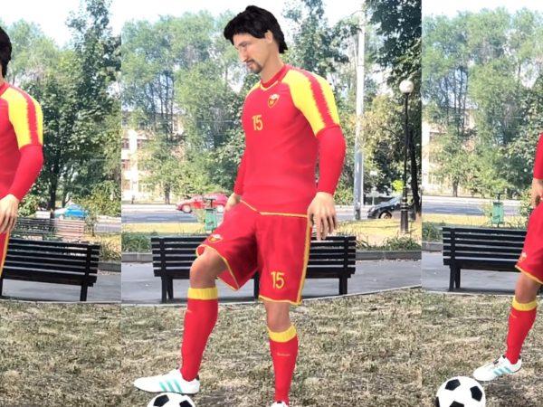Реалистичная 3D-модель футболиста в AR